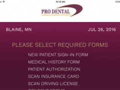 Prodental Forms 1.0 Screenshot