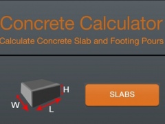 Professional Concrete Calculator 1.0 Screenshot