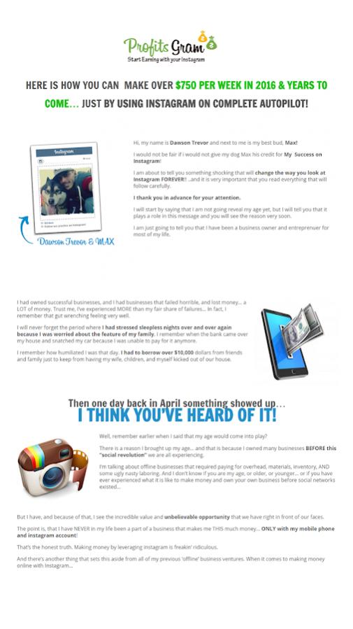 ProfitsGram 1.0 Free Download