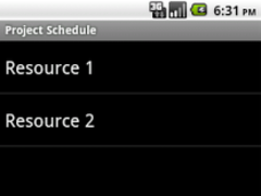 Project Schedule - Contacts 1.0.1 Screenshot