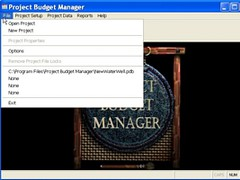 ProjectBudgetManager 3.1 Screenshot