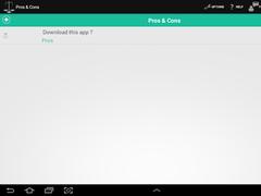 Pros & Cons - Decision maker 1.60 Screenshot