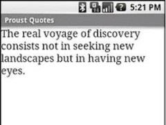 Proust Quotes 1.1 Screenshot