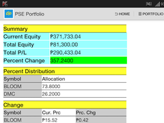 PSE Portfolio Manager 69 Screenshot