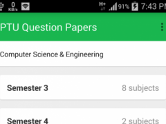 PTU Question Papers Free 1.0 Screenshot
