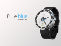 Pujie Blue - Wear Watch Face 2.0.3 Screenshot