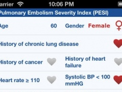 Pulmonary Embolism Severity Index (PESI) 1.0 Screenshot