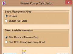 Pumping Power Calculator 3.0 Screenshot