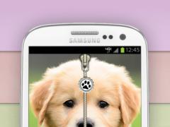 Puppy Zip Screen Lock Cute  Screenshot