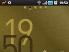 Pure Gold GO Launcher Ex Theme 1.4.1 Screenshot