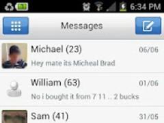 Pure Theme GO SMS PRO 1.3 Screenshot