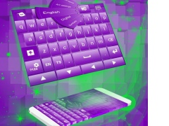 Purple 3D Keyboard 4.172.105.80 Screenshot