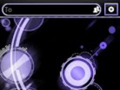 Purple Bubblegum GO SMS Theme 2.3 Screenshot