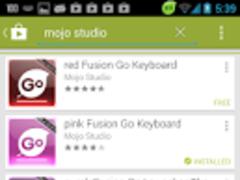 purple Fusion Go Keyboard 1.2 Screenshot