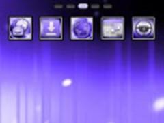 Purple ICS GO Launcher Theme 1.8 Screenshot
