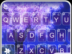 Purple Sakura Tree Keyboard 6.2.3 Screenshot