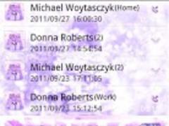 Purple Wonderland GO Contacts 1.1 Screenshot