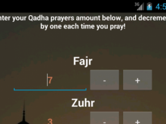 Qadha Prayers Counter 1.01 Screenshot