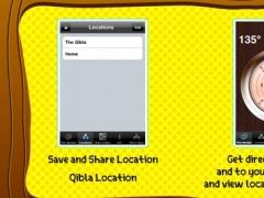 Qibla direction compass | share & save locations 1.3 Screenshot