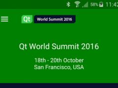 Qt World Summit 2016 - QtWS 1.8 Screenshot