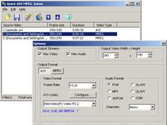 Quick AVI MPEG Joiner 2.1 Screenshot