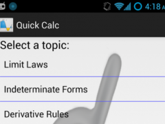 Quick Calc: Calculus Reference 0.9.9 Screenshot