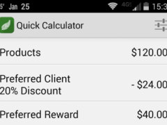 Quick Calculator for Arbonne 14 Screenshot