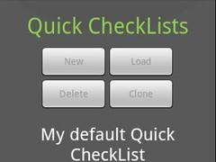 Quick CheckList FREE 1.08 Screenshot