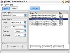 Quick MP3 WAV Converter 3.1 Screenshot