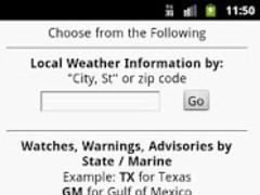 Quick Weather 2.1 Screenshot