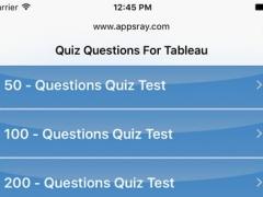Quiz Questions for Tableau 1.0 Screenshot