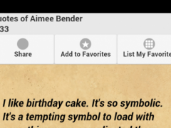 Quotes of Aimee Bender 0.0.1 Screenshot