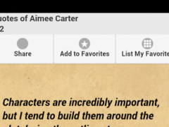 Quotes of Aimee Carter 0.0.1 Screenshot