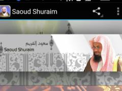 Quran Audio Saoud Al-Shuraim 1.0 Screenshot