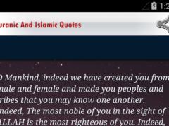 Quranic And Islamic Quotes 1.0 Screenshot