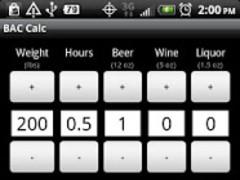 R-U-Buzzed? BAC Calculator 1.01 Screenshot