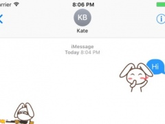 Rabbit Animated Emoji Stickers 1.0 Screenshot
