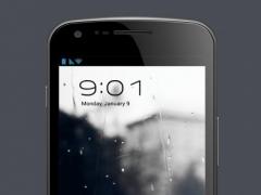 Rain and umbrella LWP 2.0 Screenshot