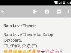 Rain Love Emoji Keyboard Theme 1.0 Screenshot