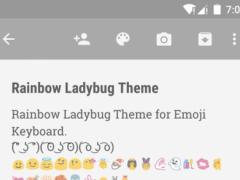 Rainbow Ladybug Emoji Keyboard 1.0.4 Screenshot