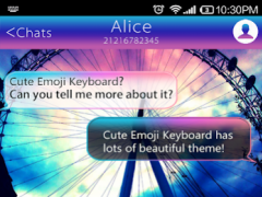 Rainbow Sky Emoji Keyboard 1.0.3 Screenshot