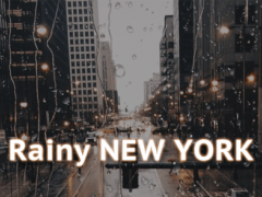 Rainy NewYork iKeyboard Theme 1.0 Screenshot