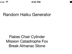 Random Haiku Generator 1.1 Screenshot