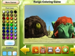 Rango Coloring Game 1.0 Screenshot
