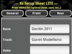 Rc Car Setup Sheet LITE 1 0 3 Free Download