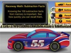 RE@L Raceway Math: Subtraction Facts 1.1 Screenshot