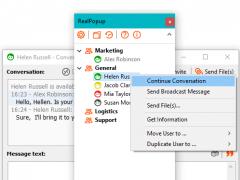 RealPopup LAN chat 5.1 Screenshot