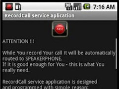 RecordCall 1.7 Screenshot