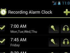 Recording Alarm Clock 1.1 Screenshot