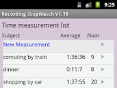 Recording StopWatch 1.12 Screenshot